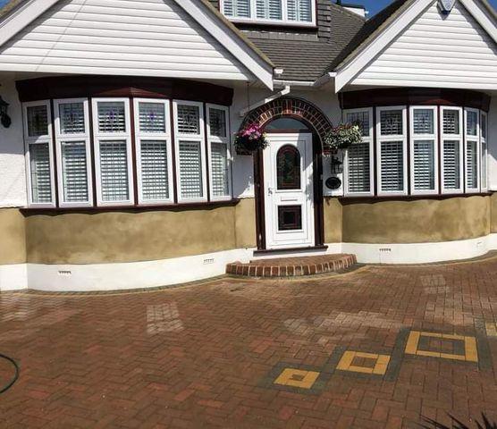 Jackson Plastering - External Bungalow rendering plastering Watford Harefield Ruislip