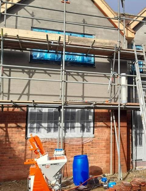 Jackson Plastering - External Rendering Systems coloured house render watford harefield (1)