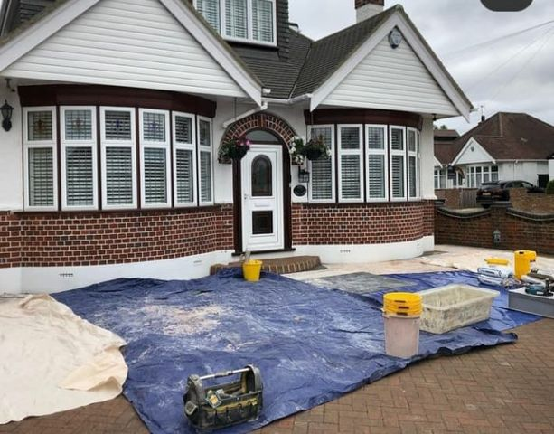 Jackson Plastering - Front Bungalow plastering Watford Harefield Ruislip