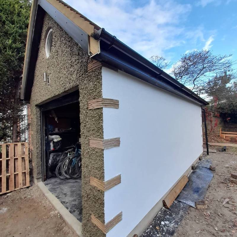 Jackson Plastering - Garage white Render Watford Harefield Ruislip