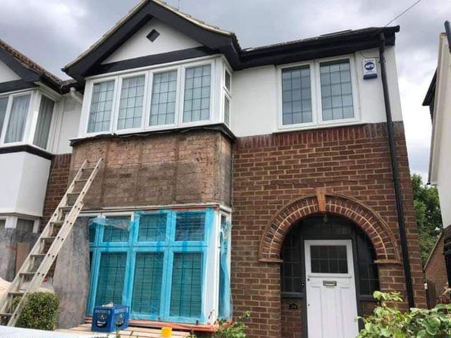 Jackson Plastering - House Front Rendering Watford Harefield Ruislip